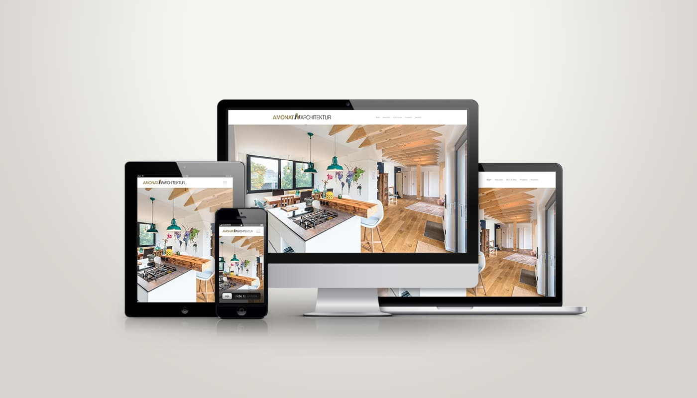 Webdesign Amonat Architektur